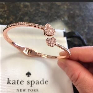 Kate Spade yours truly Pave hinge cuff bracelet
